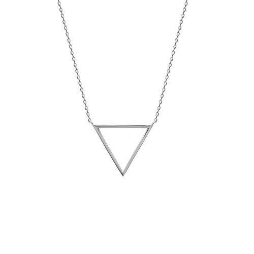 Ras du Cou triangle découpé maille forcat  en Argent 925 /1000