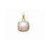 perle synthétique entourage forme coussin  en Plaqué Or