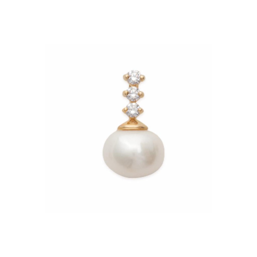 perle syntétique  en Plaqué Or