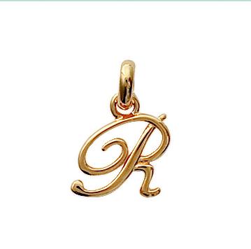 Prénom lettre R  en Plaqué Or