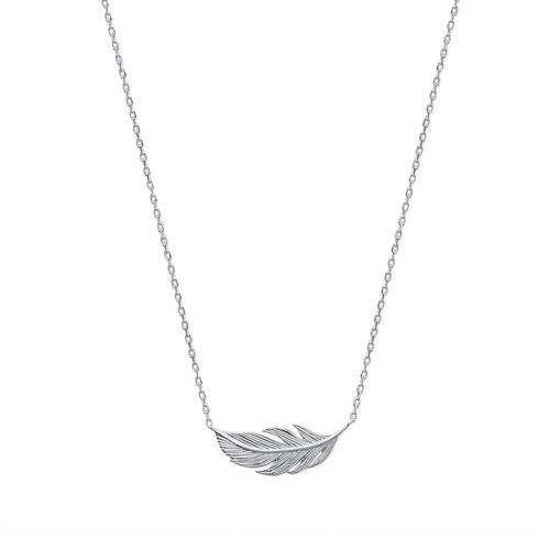 Collier motif plume  en Argent 925 /1000