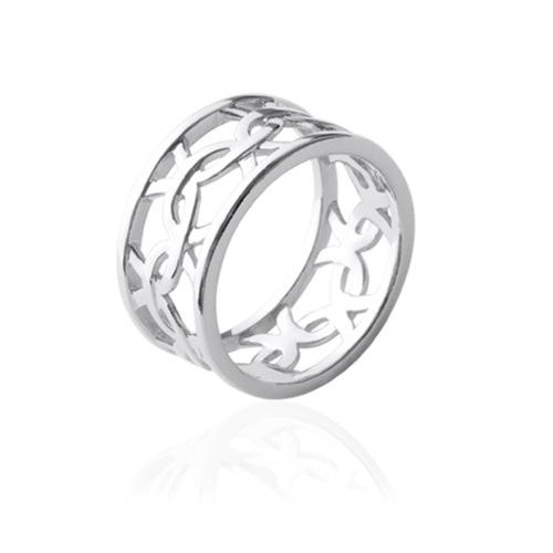 Bague motif anneaux  en Argent 925 /1000