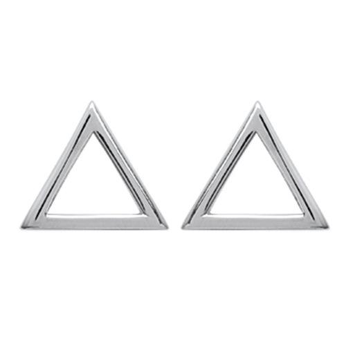 Paire de boucles à vis triangle  en Argent 925 /1000