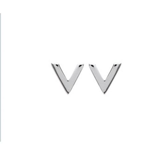 """Paire de boucles à vis """"V""""  en Argent 925 /1000"""