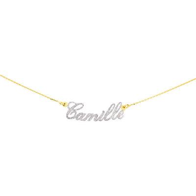 collier prénom diamante