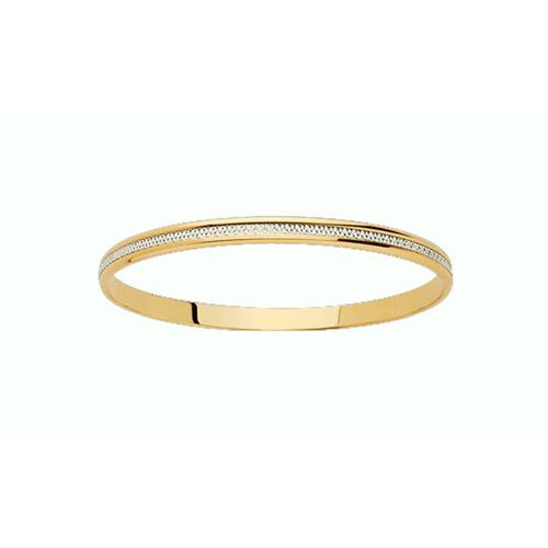 Bracelet Rigide diamanté en Or 750 / 1000 (18K)