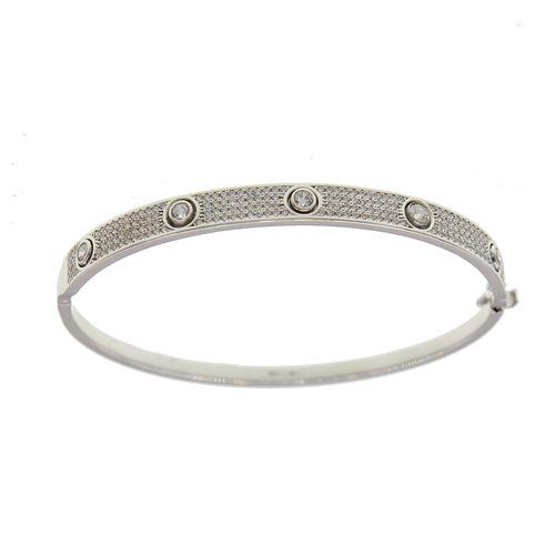 Bracelet Rigide pavage vis en Or 750 / 1000 (18K)