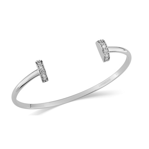 Bracelet Rigide Diamant 0.17ct en Or 750 / 1000 (18K)