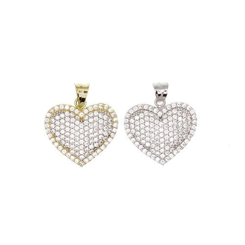 coeur pave existe en blanc ou en jaune en Or 750 / 1000 (18K)
