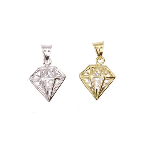 diamant existe en blanc ou en jaune en Or 750 / 1000 (18K)