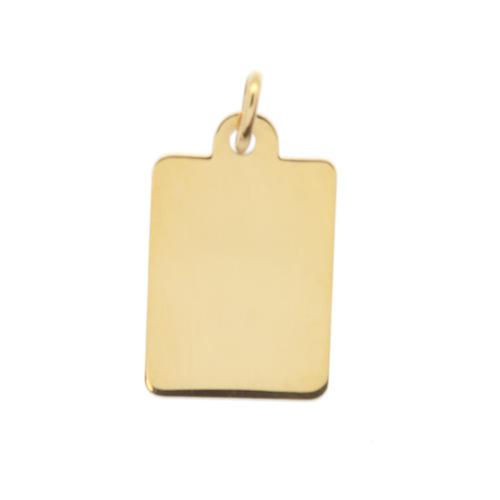 plaque rectangle en Or 750 / 1000 (18K)