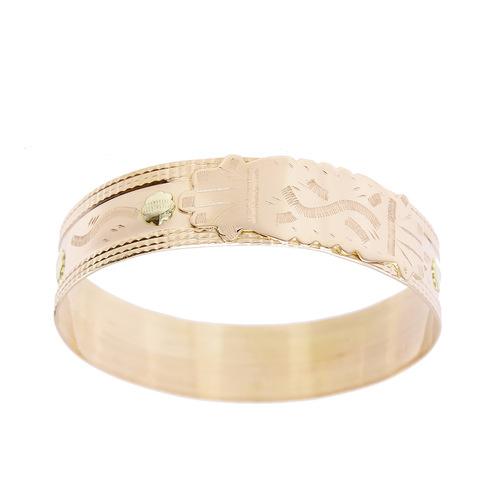 Bracelet Rigide grave avec mains en Or 750 / 1000 (18K)