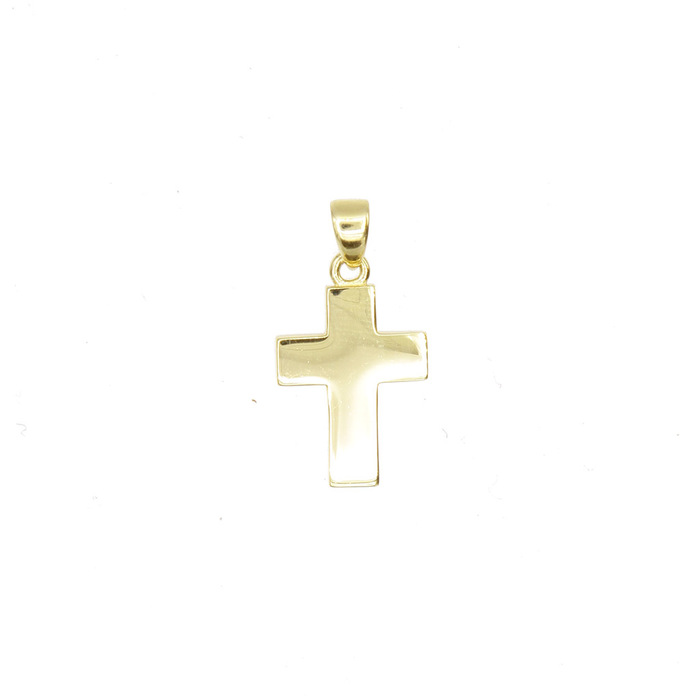 Pendentif religieux croix carree en Or 750 / 1000 (18K)