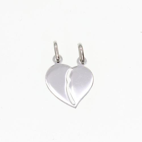 Plaque coeur secable  en Argent 925 /1000