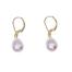 Paire de boucles dormeuses perles deau douce 5 - 8mm  en Or 750 / 1000 (18K)